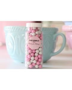 Pink and White Sixlets Sprinkles
